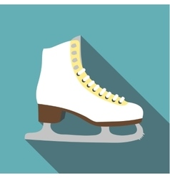 Skates icon flat style vector