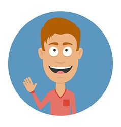 Smiling men avatar profile Cartoon character Flat vector image vector image