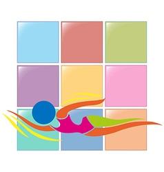 Sport logo for swimming vector