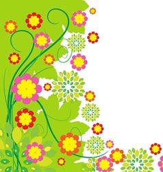 Springtime greeting card flower background vector