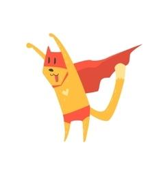 Super hero cat attacking vector