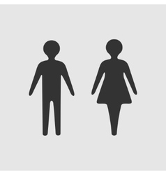 symbol woman and man vector image vector image