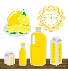 the theme lemon vector image