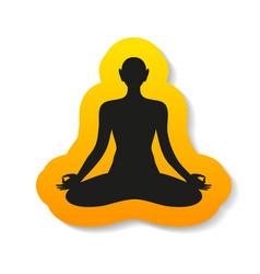 Yoga meditation harmony body and soul template vector