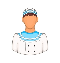 Sailor icon in cartoon style vector