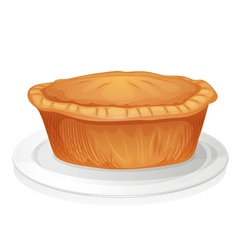brown cake vector image