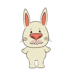 Rabbit bunny animal cartoon vector