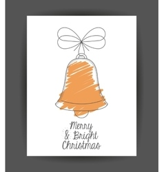 Bell decoration for christmas season vector