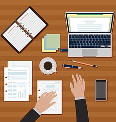Workplace table image vector