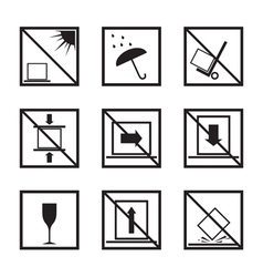 Set of different parcel signs vector