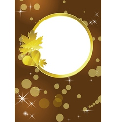 Golden frame background vector