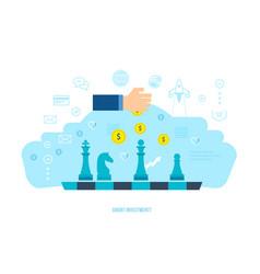 Smart investment finance banking data analytics vector