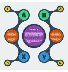 Metaball flat infographic 9 vector