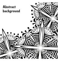 Bright doodle abstract backdrop decorative vector