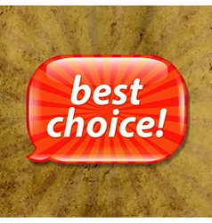 Grunge Textured With Speech Bubble vector image