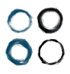 Hand drawn painted grunge circles vector image