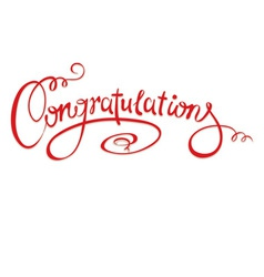 Calligraphic inscription - Congratulations vector image