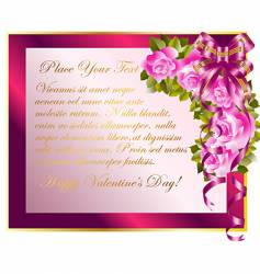 Copy space with roses vector