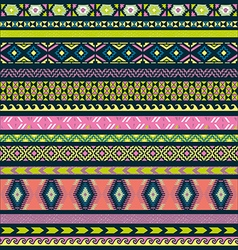 Seamless pattern tribal set vector