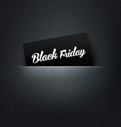 Black Friday label in poket card vector image