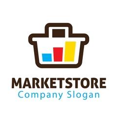 Market store design vector