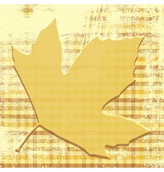 Autumn Leaf Print vector image