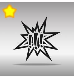 black Explosion Icon button logo symbol concept vector image vector image