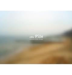 blurred background - Seaside vector image
