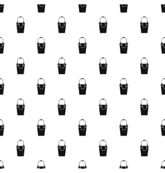 Bucket and rag pattern simple style vector
