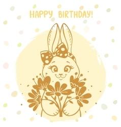 Bunny silhouette card vector