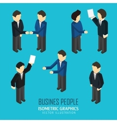 Business people in an isometric view vector image vector image
