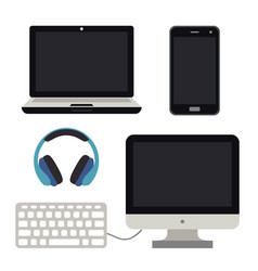 Computer notebook mobile smartphone pc vector