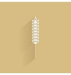 Delicious wheat icon vector image