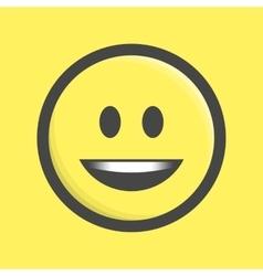 Emoticon icon vector image vector image