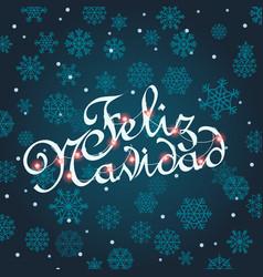 Feliz navidad greeting card template for vector