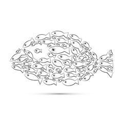 Fish Shaped Abstract Fish vector image vector image