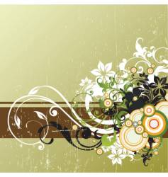 floral graphic element vector image vector image
