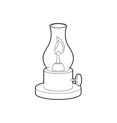 Gas lamp icon outline style vector