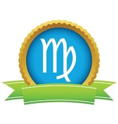 Gold Virgo logo vector image