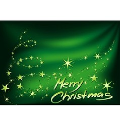 Green Merry Christmas vector image