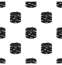 Gunkan maki icon in black style isolated on white vector