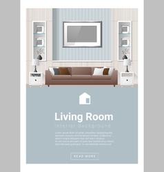 Interior design Modern living room banner 2 vector image vector image