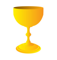 isolated golden wine cup vector image