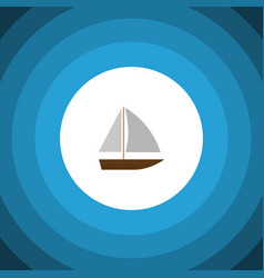 isolated vessel flat icon yacht elemen vector image vector image