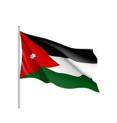 jordan national flag realistic vector image