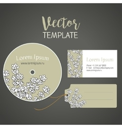 Lavender A flower template for card vector image vector image