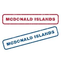 Mcdonald islands rubber stamps vector