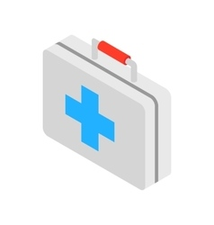 Medicine chest with blue cross icon vector image vector image