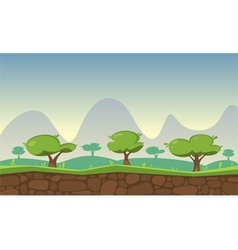 Nature game background vector
