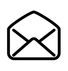 open mail envelope icon symbol of read e-mail vector image vector image